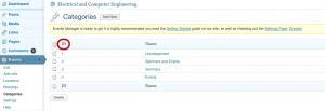 events categories screenshot